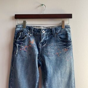 Skinny Jeans with Colourful Paint Size 5